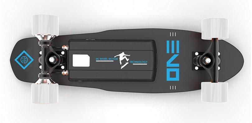 REVOE Skateboard électrique EVO Noir dessous