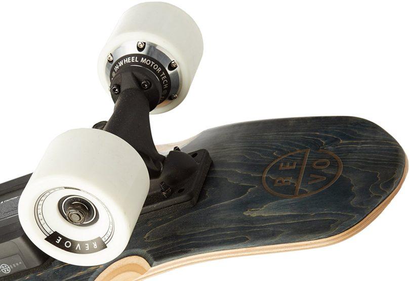 REVOE Skateboard électrique EVO Noir roues