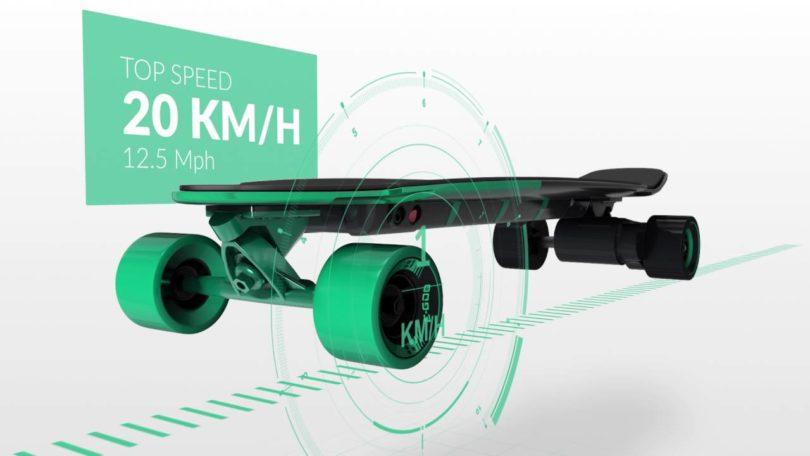 Yuneec Ego 2 Skateboard Électrique Mixte - vitesse
