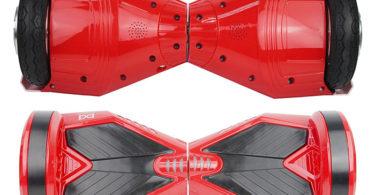 HoverBoardSkateboardGyropode Éléctrique Auto-équilibrage Bluetooth - vue haut et bas