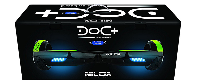 NILOX Hoverboard Doc Plus UL 2272 box emballage