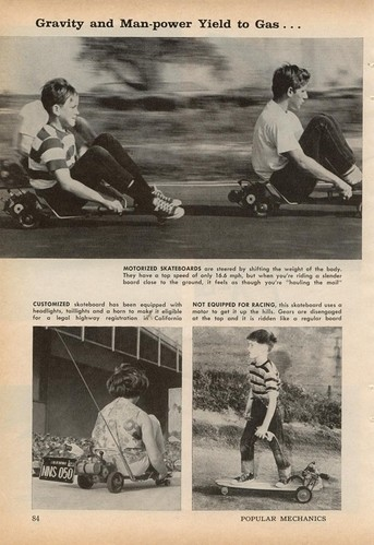 Skateboard à moteur - Popular Mecanics Magazine