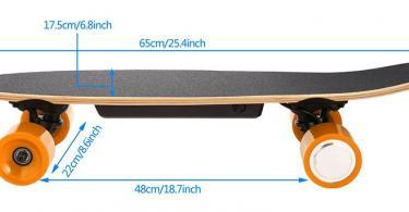 AIMADO Skateboard Électrique avec Télécommande
