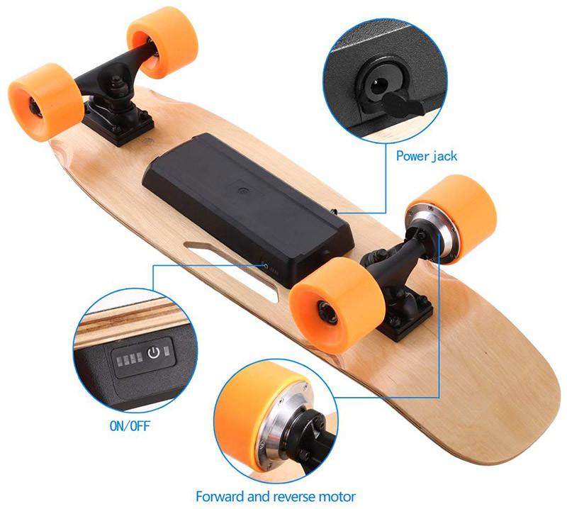 AIMADO Skateboard Électrique avec Télécommande sans Fil