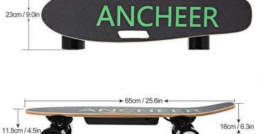 Ancheer Skateboard Electrique - Dimension