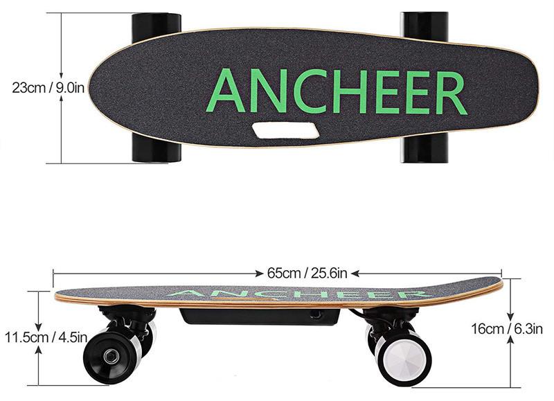 Ancheer Skateboard Electrique - Dimension