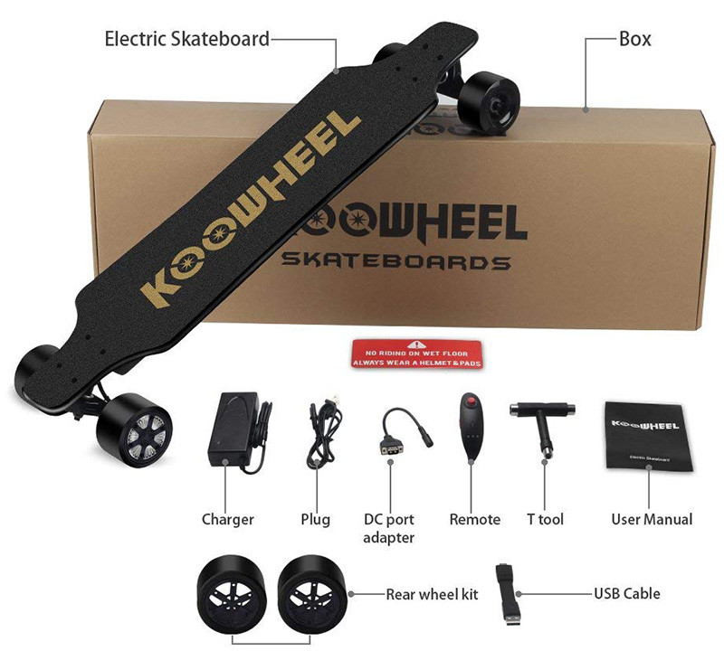 KOOWHEEL Skateboard Électrique - Packing List