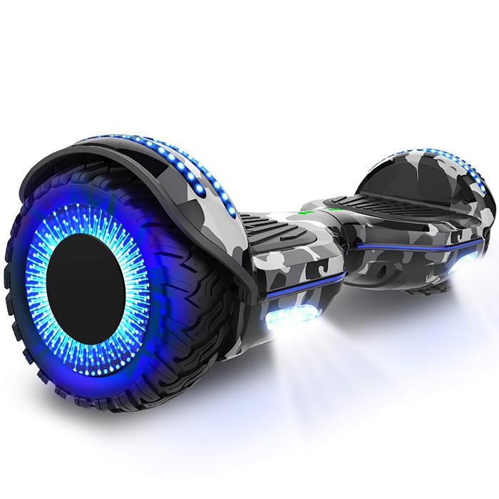 COLORWAY Blance Board Bluetooth 6,5 Pouces Gyropode LED Révolution aux Jantes en Ciel Étoilé