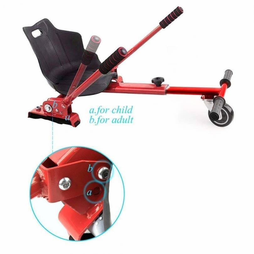 E T Hoverkart Self Balancing Go Cart Hovercart with Siège Hover Kart Compatible with 6.5, 8 et 10 Pouces
