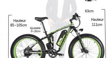 Extrbici VTT Vélo électrique Hybride Homme de Montagne XF800