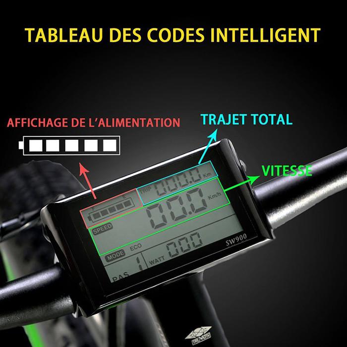 Extrbici VTT Vélo électrique Hybride Homme de Montagne