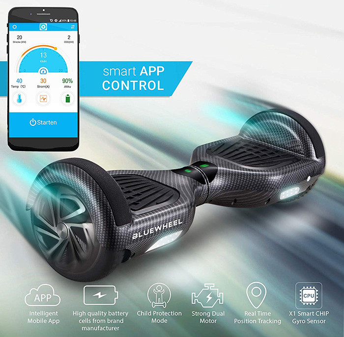 Gyropode Bluewheel HX310s Smart APP Self Balance Scooter Board Norme UL2272