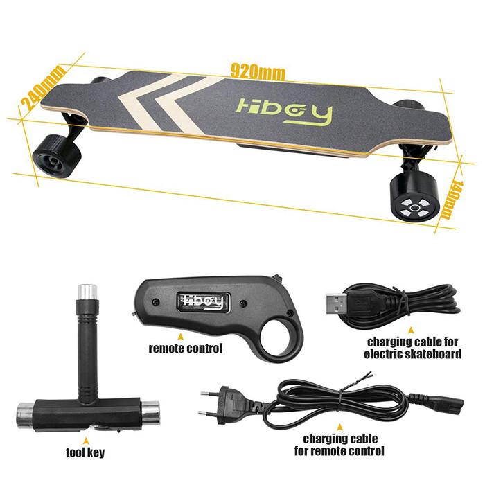 Hiboy Skateboard Planche à roulettes électrique Portable - Télécommande sans Fil - Modèle S22