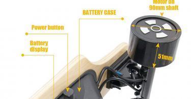 Hiboy Skateboard Planche à roulettes électrique Portable - Télécommande sans Fil - Moteur 2x350W - Modèle S22
