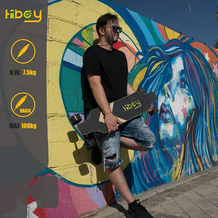 Hiboy Skateboard Planche à roulettes électrique Portable