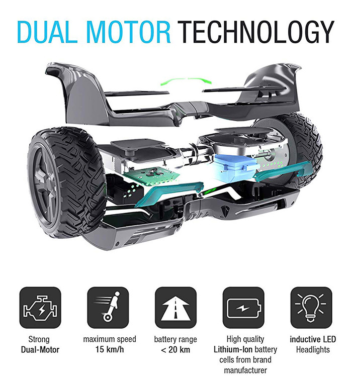 Hoverboard Gyropode HX500 Bluewheel - Features