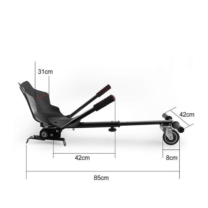 Hoverkart Scooter Seat Accédez à l'accessoire de Support réglable Kart