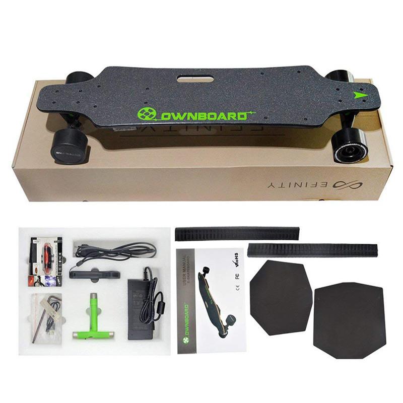 Longboard Cruiser SkateboarDouble Moteur électrique plus télécommande de Sport Professionnel Skateboard