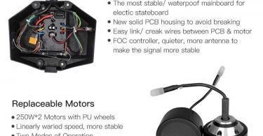 Longboard Cruiser Skateboard Augmentée Double Moteur électrique plus télécommande