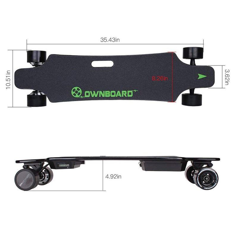 Longboard Cruiser Skateboard Double Moteur électrique avec télécommande de Sport Professionnel Skateboard