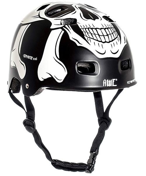 AWE® Meet Your Maker™ BMX Casque Noir 55-58cm Remplacement Gratuit DE 5 Ans DE Crash