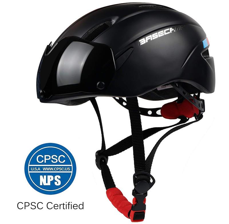 LEADFAS Casque de Vélo Unisexe de Réglable avec Visière de Protection Magnétique Amovible