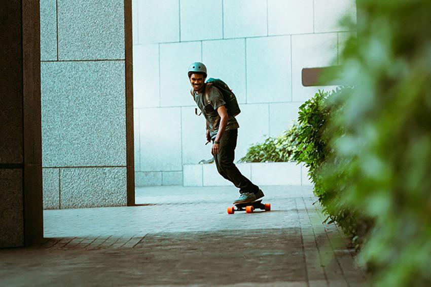 Les zones de circulation autorisée pour les skateboarders