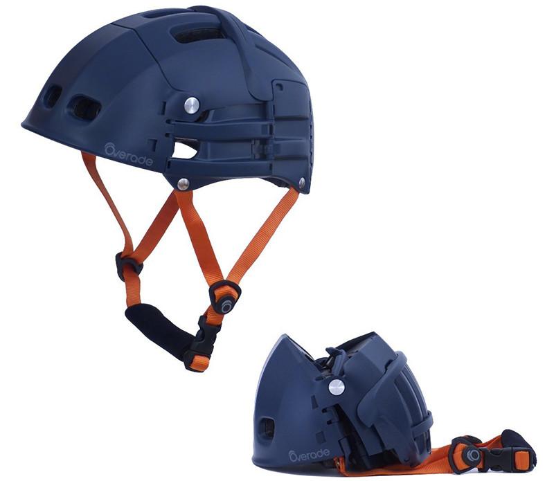 Overade - Casque PLIABLE Plixi pour vélo, trottinette électrique, gyroroue, skateboard, roller