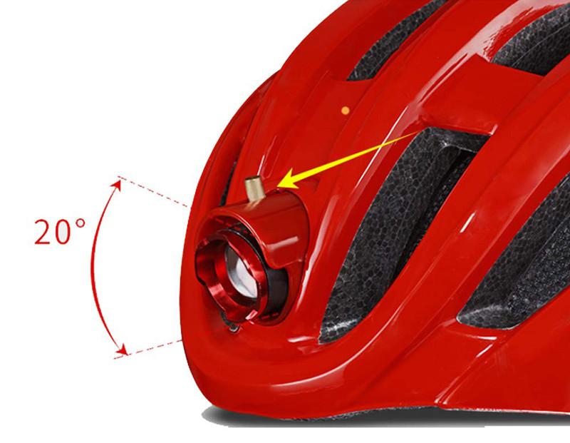 ROCKBROS Casque Vélo VTT Casque Lumineaux Feu Ajustable 57-62 cm pour Homme Femme Sécurité dans la Nuit avec Recharge USB