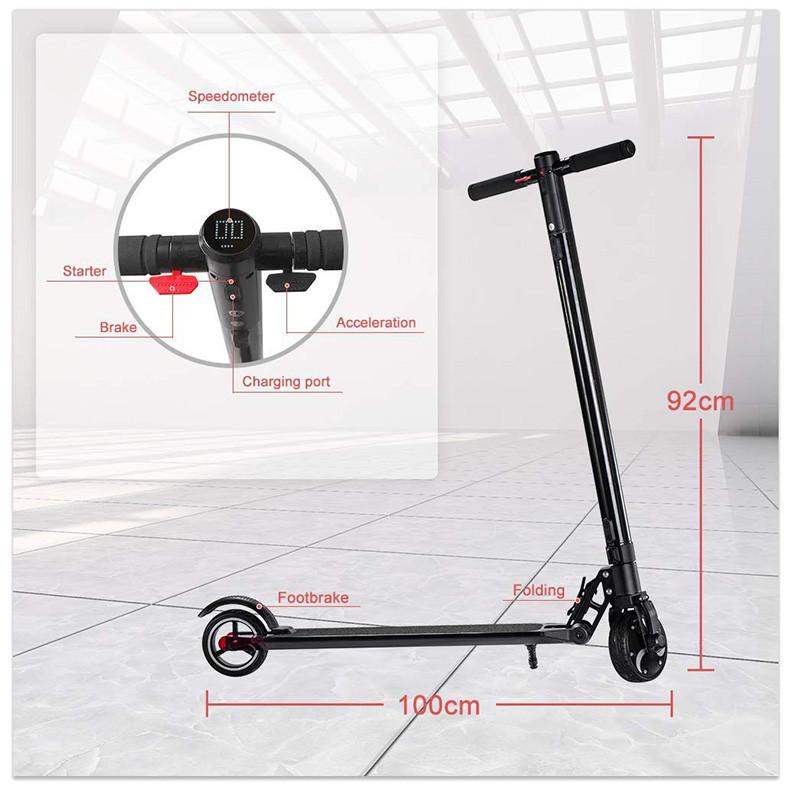 Smarthlon Trottinette électrique- Trottinette électrique Pliable Adulte