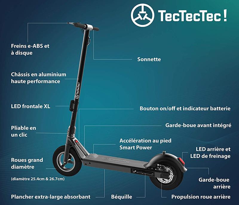 TecTecTec TPRO2 Trottinette Electrique Adulte, Accélération au Pied