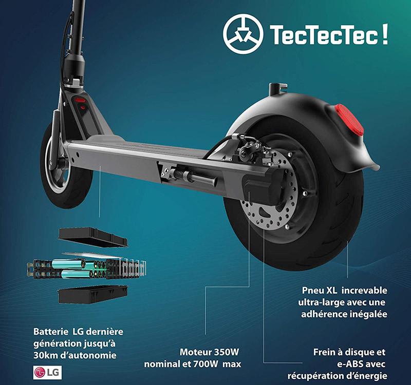 TecTecTec TPRO2 Trottinette Electrique Adulte - Accélération au Pied
