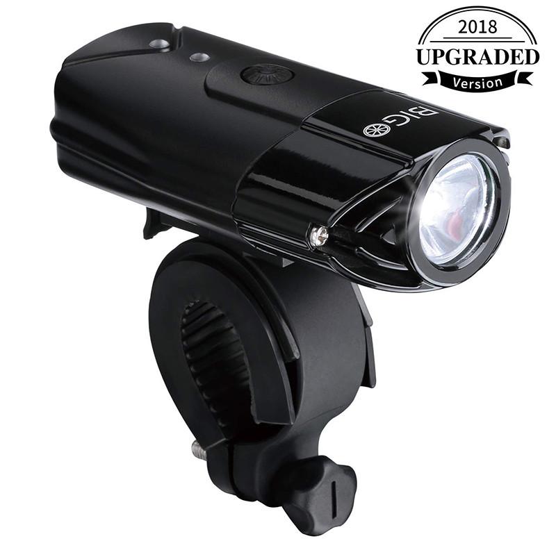 BIGO - Eclairage Avant LED Ultra Puissant Lampe Vélo USB Rechargeable Lumière Avant VTT et VTC