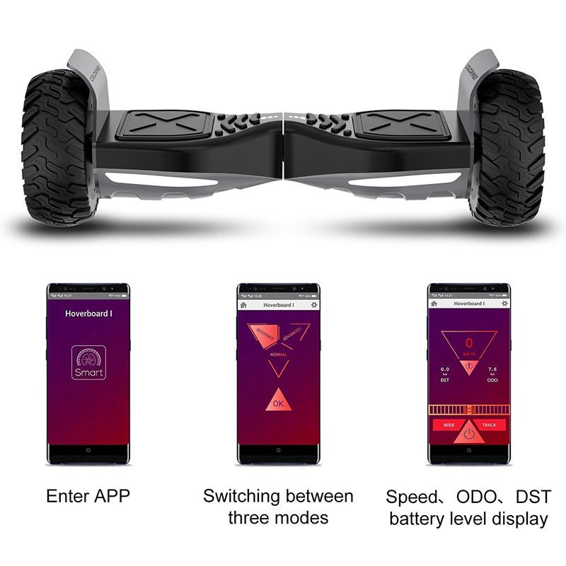 COLORWAY Balance Board Tout Terrain Bluetooth Gyropode 8,5 Pouces 2 x 350W