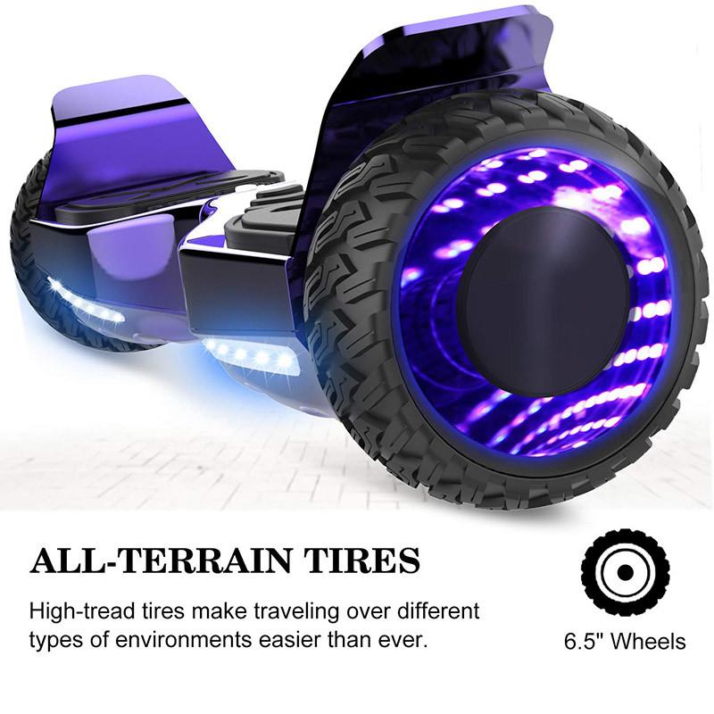 Markboard Gyropode Bluetooth 6.5 Pouces, Balance Board Scooter SUV Tout-Terrain