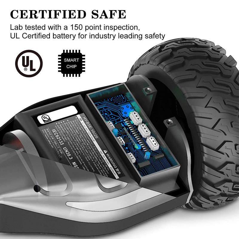 Markboard Gyropode Bluetooth 6.5 Pouces Balance Board Scooter SUV Tout-Terrain