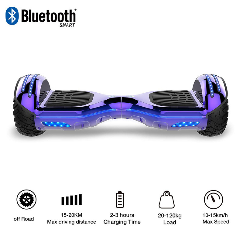 Mega Motion Self Balance Scooter 6.5 E-Star Scooter électrique Self Balance,Roues LED RGB