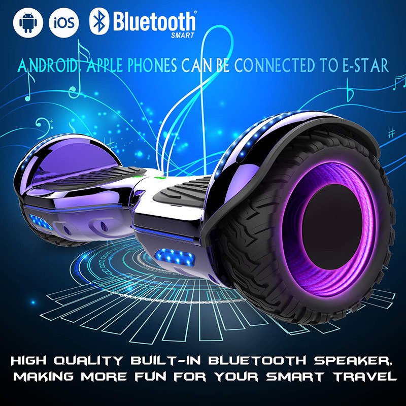 Mega Motion Self Balance Scooter 6.5 E-Star,Scooter électrique Self Balance,Roues LED RGB