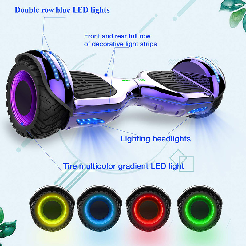 Mega Motion Self Balance Scooter 6.5 Roues LED RGB