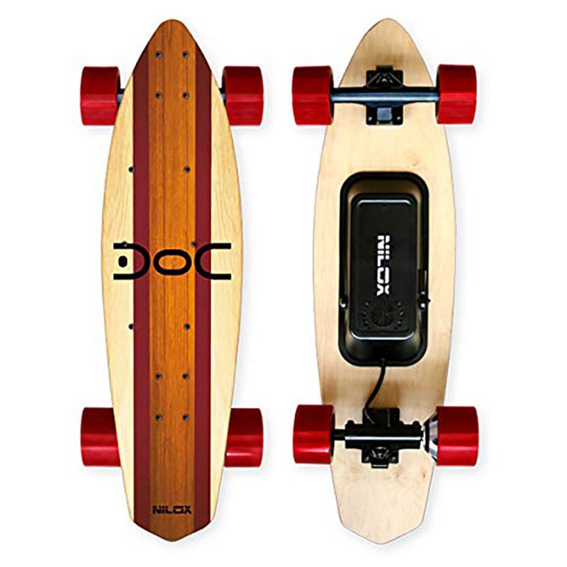 Nilox Doc Cruiser Electrique Adulte Electric Cruiser Skateboard Vitesse Max 15 kmh Rouge