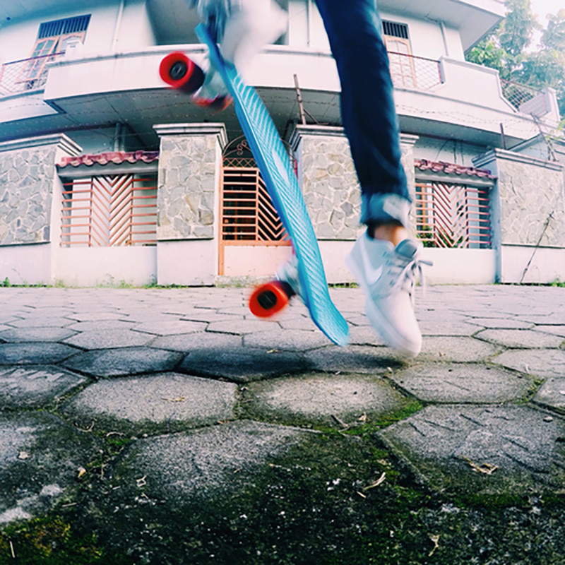 Ollie with pennyboard