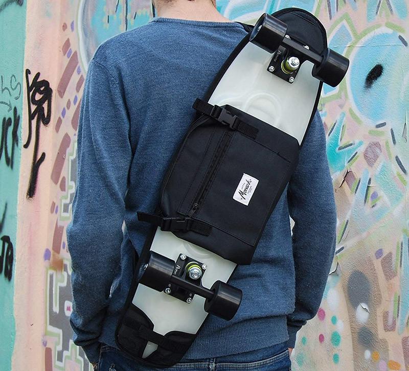 Sac à bandoulière pour emporter 27 planche à roulettes en plastique, sac à dos