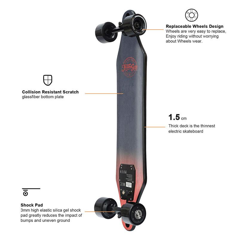 Teamgee H5 Skateboard Longboard Électrique