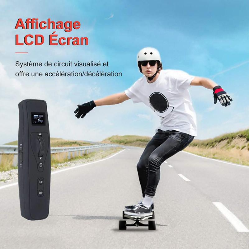 Teamgee H5 Longboard Électrique - Skateboard Adulte - Affichage écran LCD