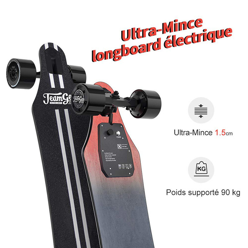 Teamgee H5 Longboard Électrique - Skateboard Adulte - Taille