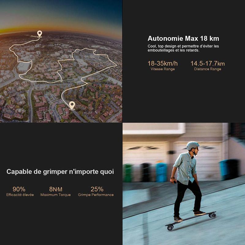 Teamgee H5 Longboard Électrique - Skateboard Adulte