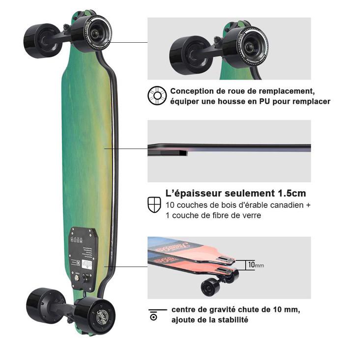 MON Test Teamgee H8 Skateboard Électrique