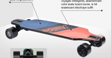 Teamgee H8 Skateboard Électrique - Longboard Adulte avec Télécommande