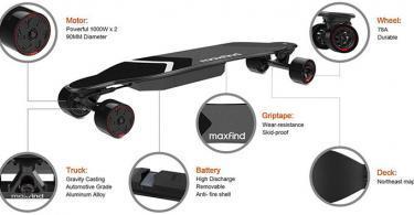 Test Maxfind Max-4 Super Range Planche à roulettes électrique
