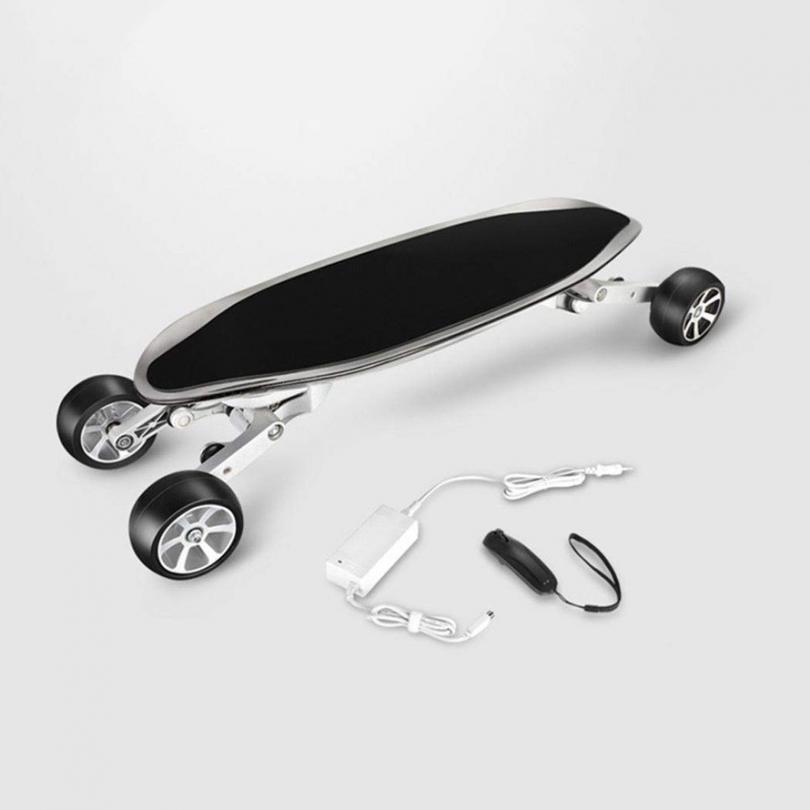 Wu's Skateboard Électrique Aux Quatre Roues, Longboard Intégré, avec Télécommande